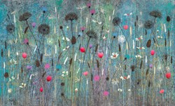 Waiting For You by Jo Starkey - Original painted on Silk on Board sized 39x24 inches. Available from Whitewall Galleries